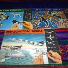 Coleccionismo: LIBROS ILUSTRACIONES INSTANTÁNEAS NAVEGACIÓN AÉREA AVES MIGRATORIAS RAZAS PERROS SIN USO REGALO MODA. Lote 46675773
