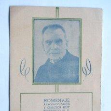 Collezionismo: PROGRAMA HOMENAJE AL PADRE GUILLERMO VIÑAS / COLEGIO MARIA AUXILIADORA / HUESCA 1945. Lote 46694603