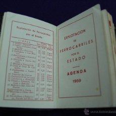 Coleccionismo: AGENDA DE EXPLOTACION DE FERROCARRILES DEL ESTADO. AÑO 1959. Lote 46869704