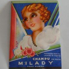 Coleccionismo: SOBRE DE CHAMPU EN POLVO MILADY DE PUIG // AÑOS 30-40. Lote 58602257
