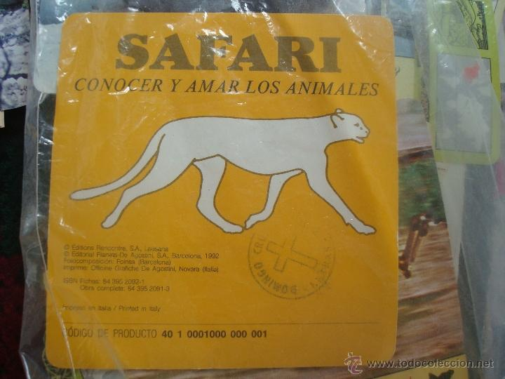 FICHA CONOCER Y AMAR A LOS ANIMALES SAFARI. AÑOS 80. LEER (Coleccionismo - Laminas, Programas y Otros Documentos)