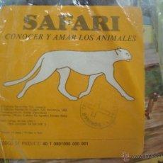 Coleccionismo: FICHA CONOCER Y AMAR A LOS ANIMALES SAFARI. AÑOS 80. LEER. Lote 47018757
