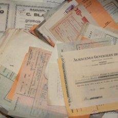 Coleccionismo: LOTE DOCUMENTOS, FACTURAS, CORRESPONDENCIA, LETRAS DE CAMBIO, LOTERÍA... ALCOY.AÑOS 60 LA MAYORÍA.. Lote 47153037