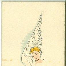 Coleccionismo: FELICITACION NAVIDAD EDITORIAL SELECTA BARCELONA 1948 COLOREADA A MANO POR LUIS VENTOSA . Lote 47204792