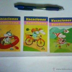 Coleccionismo: PEGATINA LOTE 3 VACACIONES SANTILLANA. Lote 47280970