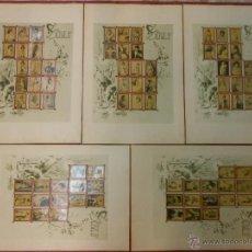 Coleccionismo: 1898 SERIE 5 ALBUM 75 FOTOTIPIAS DE CAJAS DE CERILLAS ACTRICES COMPLETO RARO CROMOS PARERA EDITORES. Lote 47345714