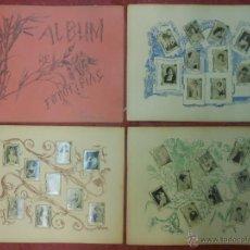 Coleccionismo: SERIE 2 ALBUM DE 75 FOTOTIPIAS DE CAJAS DE CERILLAS DE ACTRICES - COMPLETO CROMOS. Lote 47347517
