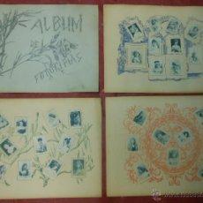 Coleccionismo: SERIE 4 ALBUM DE 75 FOTOTIPIAS DE CAJAS DE CERILLAS DE ACTRICES - COMPLETO CROMOS. Lote 47347730