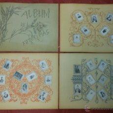 Coleccionismo: SERIE 11 ALBUM DE 75 FOTOTIPIAS DE CAJAS DE CERILLAS DE MONARQUIA - COMPLETO CROMOS. Lote 47348078