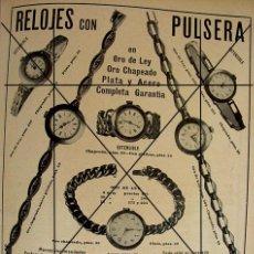 Coleccionismo: (1910-1919) RELOJES CON PULSERA ORO-CARNE LIQUIDA DR. VALDES.LLOBET MARTORELL BARCELONA. Lote 44998192