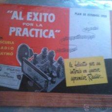 Collectionnisme: ESCUELA DE RADIO MAYMÓ. PLAN DE ESTUDIOS DE 1950. Lote 47386482
