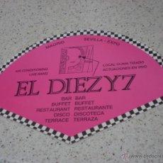 Collezionismo: ANTIGUO ABANICO BAR BUFFET EL DIEZY7,MADRID,SEVILLA EXPO 92.. Lote 47394996