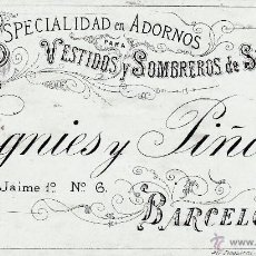 Coleccionismo: ESPECIALIDAD EN ADORNOS VERGNIES Y PIÑOL BARCELONA (FINALES SIGLO XIX). Lote 47428934