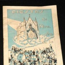 Coleccionismo: PROGRAMA FIESTAS DE NTRA. SRA. DE LA MISERICORDIA CANET DE MAR AÑO 1942. Lote 47554356