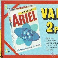 Coleccionismo: ARIEL. VALE DESCUENTO 2PTS.. Lote 47593563