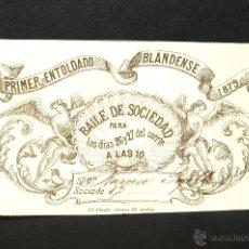 Coleccionismo: CARNET SOCIO ENTOLDADO BLANDENSE AÑO 1879. Lote 47607092