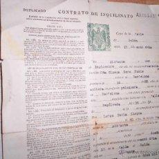 Sammelleidenschaft Papier - DOCUMENTO CON SELLOS TIBRE CONTRATO PELUQUERIA ALICANTE SORIA LLOPIS 1946 - 47614829
