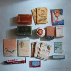 Coleccionismo: PRODUCTOS DE DROGUERÍA PERFUMERIA JABON CHAMPU POLVOS DE ARROZ TINTE // LO DE LA FOTO AÑOS 50. Lote 67963910