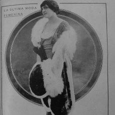 Coleccionismo: 1910-1919-AVIADOR BIELOBUCICK CRUZAR ALPES AEROPLANO. BRIAD PRESIDENTE FRANCIA - MODA MUJER - RLMMX2. Lote 47705026