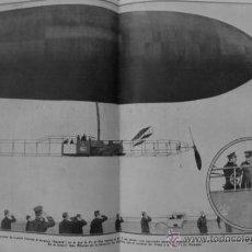 Coleccionismo: 1910-1919-VALENCIA PUERTO MINISTRO MARINA A. GIMENO-MADRID REY DIRIGIBLE ESPAÑA CUATRO VIENTOS-PARIS. Lote 47721525
