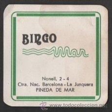 Coleccionismo: POSAVASOS BINGO MAR PINEDA DE MAR BARCELONA. Lote 47927773