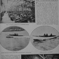 Coleccionismo: PPIOS. 1900. FERROL ACORAZADO ALFONSO XIII-BARCELONA AUTOMOVIL HISPANO SUIZA CANOA-SEVILLA JUEGOS. Lote 47972666
