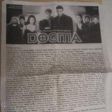 Coleccionismo: DOGMA KEVIN SMITH PROGRAMA MANO CINE ORIGINAL. Lote 48271618