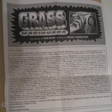 Coleccionismo: GRASS MARIHUANA DOCUMENTAL PROGRAMA MANO CINE ORIGINAL. Lote 48271622