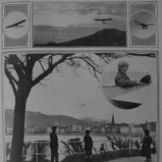 Coleccionismo: (1910-1919) SAN SEBASTIÁN VUELO AEROPLANO GARNIER-VUELO SOBRE MADRID-CUATRO VIENTOS-VERDI DON CARLOS. Lote 48351783
