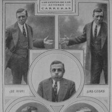 Coleccionismo: (1910-1919) ALICANTE REY-BALANDRO-TIRO PICHON-AYUNTAMIENTO- ACTOR E. CARRERAS-CORREO ESPAÑOL-RLDGAX2. Lote 48356942