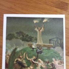 Coleccionismo: ANTIGUA LAMINA CROMOLITOGRAFIA LAS SUPERSTICIONES EN LA EDAD MEDIA ILUSTRADOR PLANELLA. Lote 48371612