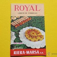 Coleccionismo: RIERA MARSA,ROYAL LIBRITO DE FORMULAS DE 36 PAG.BUEN ESTADO. Lote 48537539
