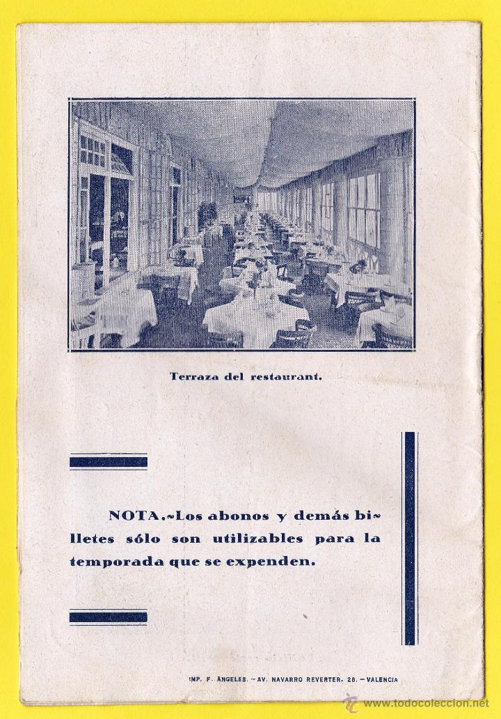 Coleccionismo: FOLLETO PUBLICITARIO DEL BALNEARIO LAS ARENAS. PLAYA DEL CABAÑAL, VALENCIA, 1934. - Foto 5 - 48617001