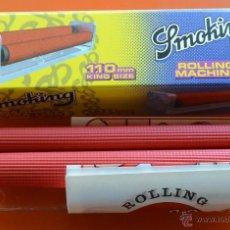 Coleccionismo: SMOKING - MAQUINA DE PAPEL DE LIAR - PARA PAPEL LARGO - NUEVA SIN ESTRENAR. Lote 48673095
