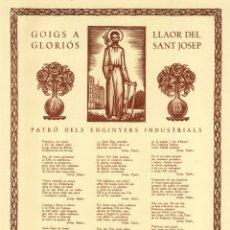 Coleccionismo: GOIGS A LLAOR DEL GLORIÓS SANT JOSEP - XILOGRAFIES DE A.OLLÉ PINELL. Lote 48717423