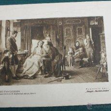 Coleccionismo: LAMINA LITOGRAFICA HORA DE ANGUSTIA, PUBLICIDAD BAYER. Lote 48863944