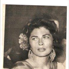Coleccionismo: AÑO 1960 RECORTE PRENSA FOTOGRAFIA SORAYA EN LA FERIA DE ABRIL DE SEVILLA. Lote 48981409