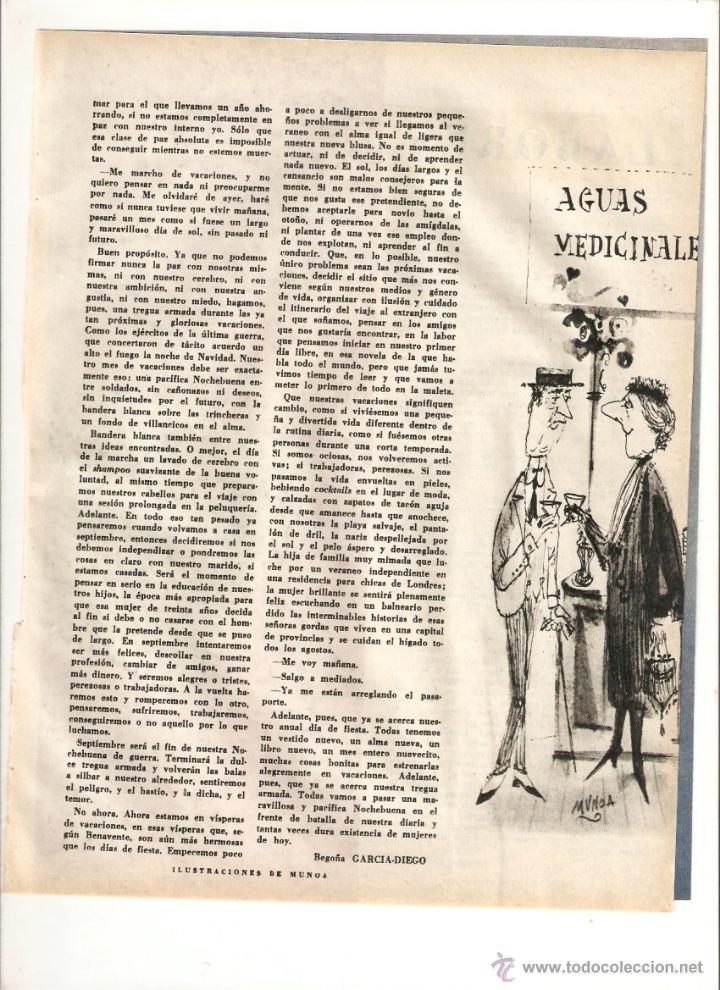 Coleccionismo: AÑO 1960 RECORTE PRENSA CUENTO RELATO NOCHE BUENA EN EL FRENTE DE BATALLA BEGOÑA GARCIA DIEGO MUNOA - Foto 2 - 49014046