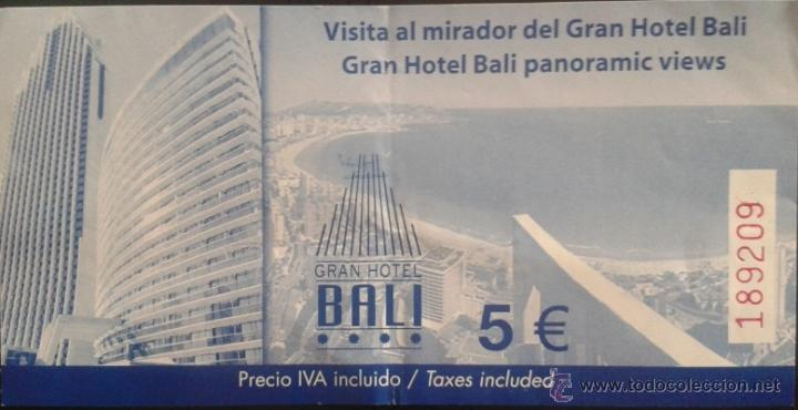 Entrada Mirador Del Gran Hotel Bali De Benidorm Sold Through Direct Sale 49095271
