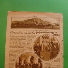 Collezionismo: 2 HOJAS SUELTAS REVISTA ESTAMPA LOS AUROROS DE YECLA COSTUMBRES ESPAÑOLAS. Lote 49129209