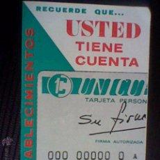 Coleccionismo: LIBRILLO ESTABLECIMIENTOS TARJETA CREDITO UNICUENTA *C24/1. Lote 49142204