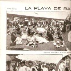 Coleccionismo: AÑO 1918 RECORTE PRENSA PLAYA DE BAÑOS DE BARCELONA. Lote 49197818