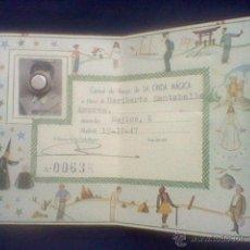 Sammelleidenschaft Papier - carnet RNE radio nacional España programa Onda Magica 1947 *C8 muy raro - 49201943