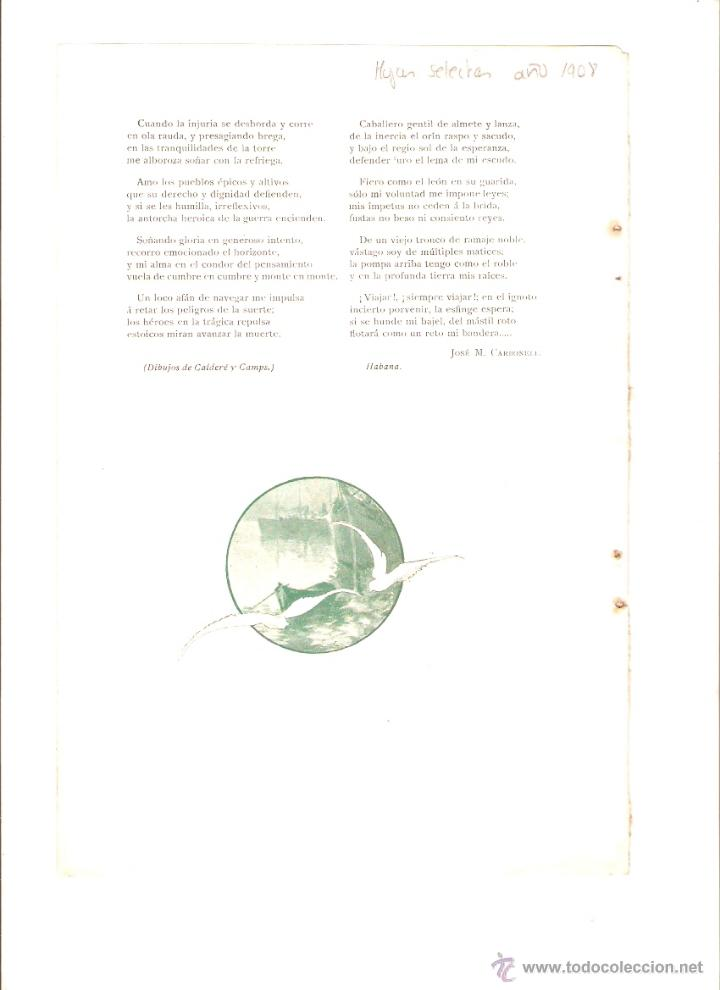 Coleccionismo: AÑO 1908 RECORTE PRENSA POESIA HACIA OTROS CLIMAS JOSE M CARBONELL DIBUJO CALDERE CAMPS - Foto 2 - 49374409
