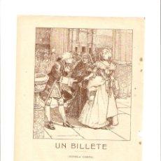 Coleccionismo: AÑO 1908 RECORTE PRENSA RELATO NOVELA CORTA UN BILLETE PEREZ CASTELLVI. Lote 49374568