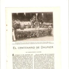 Coleccionismo: AÑO 1908 RECORTE PRENSA CENTENARIO DE DAUMIER ILUSTRE CARICATURISTA. Lote 49374726