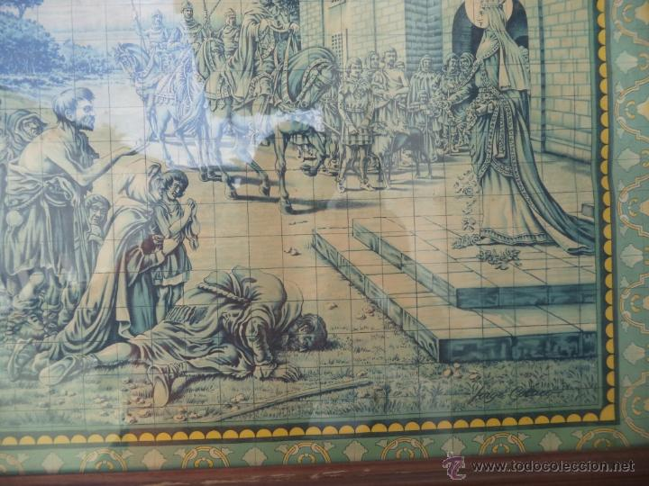 Coleccionismo: lamina antigua imitacion a azulejos - Foto 2 - 49398170