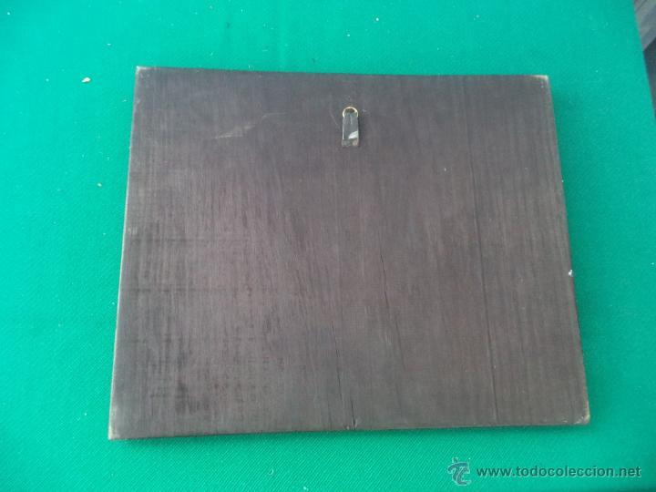 Coleccionismo: lamina antigua en madera - Foto 2 - 49398243