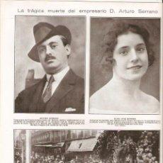 Coleccionismo: AÑO 1925 RECORTE PRENSA MUERTE ARTURO SERRANO MADRID TEATRO INFANTA ISABEL HIPOFOSFITOS SALUD. Lote 49403688