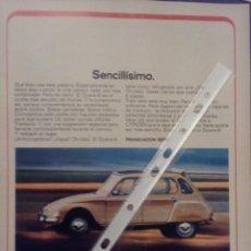 Coleccionismo: PUBLICIDAD AUTOMOVIL CITROEN DYANE . Lote 96950258